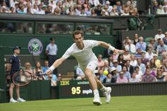Andy Murray chases after a forehand - Jon Buckle/AELTC