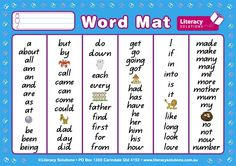 The A4 Word Mat features a compilation of 114 high frequency words taken from the most common sight word lists