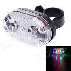 Hai Yin HY-208 90lm 9-LED 5-Mode Bicycle Safety RGB Warning Light - Black   Silver (2 x AAA) Price: $3.80