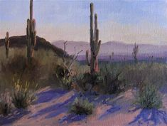 "Daily Paintworks - ""Sonoran Morning"" by Nancy Romanovsky"
