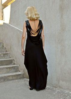 New in our shop! Black Backless Dress / Black Leather Fringes Dress / Backless Maxi Dress / Fringe Backless Dress TDK140 https://www.etsy.com/listing/241700739/black-backless-dress-black-leather?utm_campaign=crowdfire&utm_content=crowdfire&utm_medium=social&utm_source=pinterest