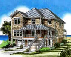 Coastal Home Plans - Cordgrass Cottage