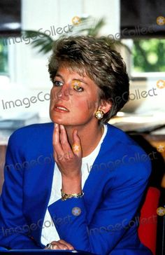 Princess Diana does not look really happy here