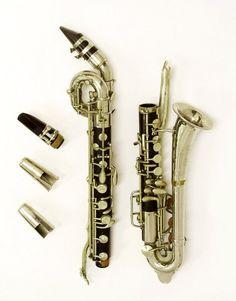 Bass Clarinet (Buffet-Crampon, 1880-1920) Saxophone, Bass Clarinet, Art Of Noise, Bassoon, Brass Band, Instrumental, Orchestra, Musical Instruments, Flute
