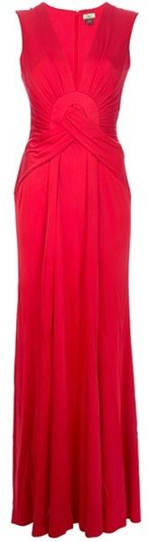 issa Drape Dress - Lyst