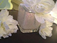 Small Square Glittered Vases