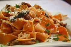 Chili Pappardelle with Chicken & Mushrooms