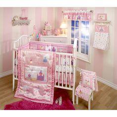 disney nursery  | Disney Baby - Little Princess Stories 4-Piece Crib Set: Bedding ...