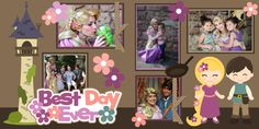 SVG file Disney Tangled Rapunzel scrapbooking kits layouts pages Best Day Ever Princess 12x12 Scrapbook Kit l