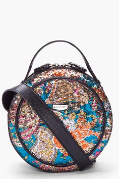 CARVEN / Round Floral Sequin Shoulder Bag