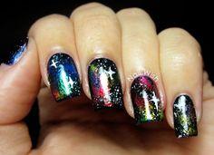 Galaxy foil nails