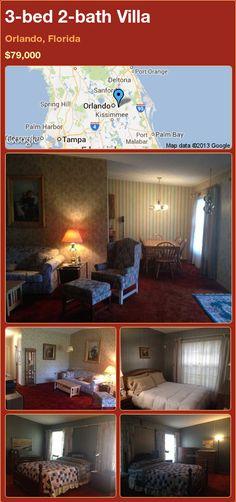 3-bed 2-bath Villa in Orlando, Florida ►$79,000 #PropertyForSale #RealEstate #Florida http://florida-magic.com/properties/76049-villa-for-sale-in-orlando-florida-with-3-bedroom-2-bathroom