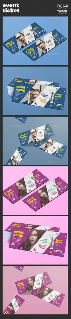 Event Ticket Template PSD, Vector AI. Download here: http://graphicriver.net/item/event-ticket/15814400?ref=ksioks