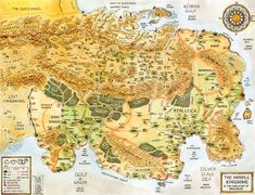 The Middle Kingdoms and the Highlands of Daradja. Map from Sword Barrow by Mark Smylie. Fantasy Town, Fantasy World Map, Fantasy Series, Nerd Poker, Ancient Runes, Imaginary Maps, Village Map, Dungeon Maps, Weird Dreams