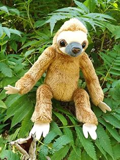 Baby Sloth Stuffed Toy Animal - Cute Plush Baby Sloth >>> You can get more details by clicking on the image. (This is an affiliate link) Baby Sloth, Poly Bags, Dinosaur Stuffed Animal, Stuffed Animals, Cute Faces, Big Eyes, Pet Toys, Gifts For Kids, Stuffed Toy