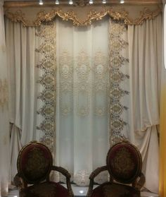 No photo description available. Curtains And Draperies, Window Curtains, Valances, Curtain Box, Window Coverings, Window Treatments, Classic Curtains, Victorian Interiors, Pelmets