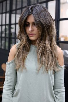 """L.A.'s Raddest Hair Colorist Spills The Looks You'll Want In 2017  #refinery29  http://www.refinery29.com/cherin-choi-la-hair-color-transformations#slide-16  What To Ask For: Blended, natural-looking highlights with lighter ends.Prefer something cooler in tone? Client Kiran Khanmohamad arrived with grown-out highlights that had become a bit like ombré, Choi says, which is common. She refreshed her look with what she calls """"modern, soft ombré of dark to light, ash brunette."""" Ask for…"""