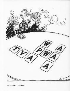 Cartoon parody of FDR's New Deal using alphabet cards. Alphabet soup anyone? History Activities, Teaching History, Writing Activities, Classroom Activities, Five Themes Of Geography, High School American History, History Interactive Notebook, Alphabet Cards, Federal