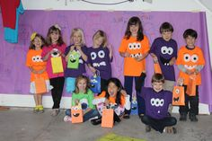 All the monster shirts I made for the the Monsters Inc party.