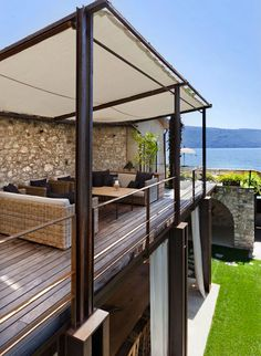 terrace, canvas top Exterior Rest Areas | Home Adore. Outdoor awning.