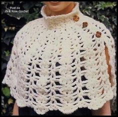 Xale Capinha Croche. . Crochet Capelet Shawl - Pink Rose_thumb[2].jpg (246×244)