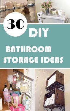 30 DIY Bathroom Storage Ideas - http://myshabbychicdecor.com/30-diy-bathroom-storage-ideas/