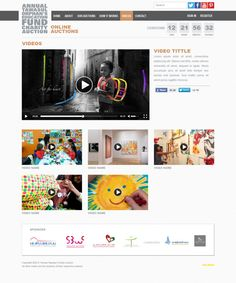 Tawasul Online Charity Auction by Omair Muhammad, via Behance
