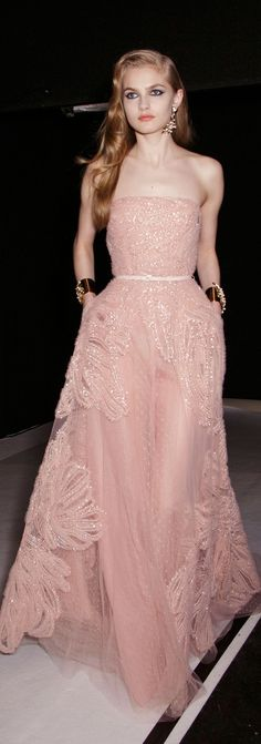 Elie Saab at Couture Spring 2015 (Backstage)