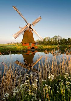 Noordwolde, Groningen, The Netherlands Netherlands Windmills, Holland Windmills, Old Windmills, Wonderful Places, Beautiful Places, Places Around The World, Around The Worlds, Excursion, Water Tower