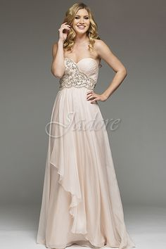 Style #J3020 in chiffon, colour Ice Pink.  Flowy, pretty Bridesmaid.  Available for reorder in many colours sizes 2 - 30.  Visit www.jadoreevening.ca for the full collections.  #JadoreCanada