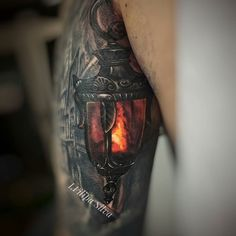 Lantern tattoo by @ifilipasilva at @tattoogalleryespinho in Espinho Portugal #ifilipasilva #tattoogalleryespinho #espinho #pprtugal #lanterntattoo #tattoo #tattoos #tattoosnob