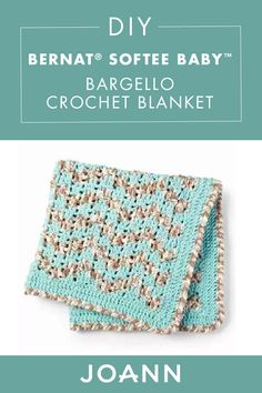 Your new bundle of joy deserves to be wrapped in a soft new blanket! This handmade Baby Blanket™ Baby Bargello Crochet Blanket from JOANN is just as cozy as it is cute. Crochet Baby Blanket Free Pattern, Crochet Ripple, Crochet Afgans, Baby Afghan Crochet, Crochet Stitches Patterns, Knit Or Crochet, Learn To Crochet, Crochet Crafts, Free Crochet