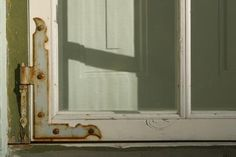 size: Photographic Print: Close-up of a White Window Frame with a Rusty Metal Hinge : Subjects Sash Windows, Old Windows, Old Window Projects, Diy Projects, Window Ideas, How To Clean Rust, Window Mirror, Mirror Mirror, Crushed Glass