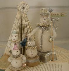 book page tree and snowmen-Nov 23 '10
