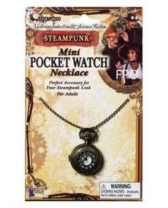 Sexy : Steampunk mini pocket watch necklace