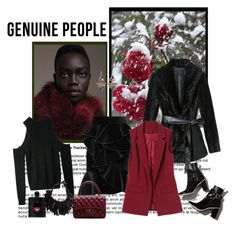 """Genuine-People 20."" by carola-corana ❤ liked on Polyvore featuring Fenton, Balmain, Monies, Yves Saint Laurent and Genuine_People"