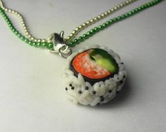 miniatures, sushi necklac, nail, roll sushi, necklac miniatur, california cloth, california roll, necklaces, rolls