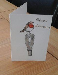 Robin christmas card.