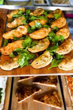 Street Food Cycle Caffè's Mini calzone and pizza al taglio