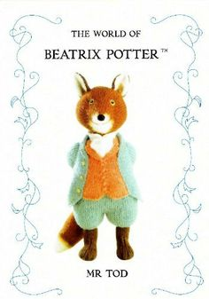 Alan Dart-Beatrix Potter-Mr Tod-Dutch Translation-Knitting and Crochet Communication-Knitting Patterns-PinDIY Knitted Dolls, Crochet Toys, Knit Crochet, Beatrix Potter, Amigurumi Patterns, Knitting Patterns, Amigurumi Toys, Fox Toys, Knitted Animals