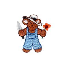 Free Embroidery Design: Garden Bear