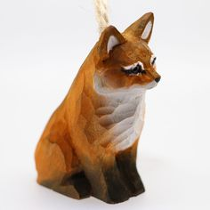 Art Cute Brown FOX Hand-carved Ornament Wall Deco Wood Carving ZR10002 #ZL #Ornament