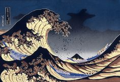 japanese waves wallpaper - Google Search