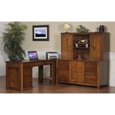 Office Furniture :: L Shaped Mission Modular   Frontier Furniture | Amish  Furniture Store
