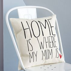 "kissen ""home is where my/our mum is"" by minna's room 