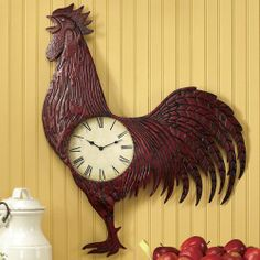 Red Rooster Clock from Montgomery Ward®