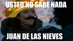 oh shit all in spanish. more like sabes nada though, not lile there's much respect there from ygritte