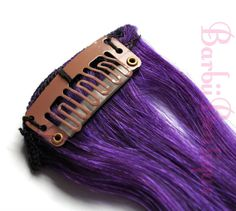 Human Hair Blend 20 Purple 8 Pieces Clip In by BarbiiBoutique, $39.95