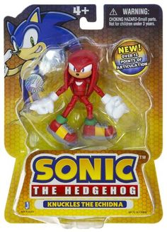 "Amazon.com: Knuckles the Echidna ~3"" Mini-Figure: Sonic the Hedgehog Mini-Action Figure Series: Toys & Games"