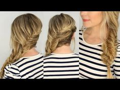 Fishtail Twisted Side Braid | Missy Sue - YouTube